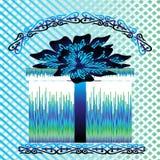 Boîte pour le cadeau avec l'arc bleu Photo libre de droits