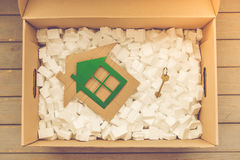 Boîte pour le déplacement photos libres de droits