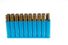 Boîte presque pleine de munitions Image stock