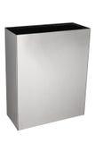Boîte rectangulaire de déchets d'acier inoxydable Image stock
