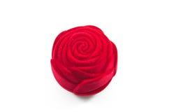 Boîte rose de soie rouge de velours pour Images libres de droits