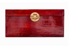 Boîte rouge de laque Image stock
