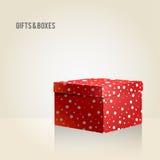 Boîte rouge sur le fond clair Illustration de Vecteur