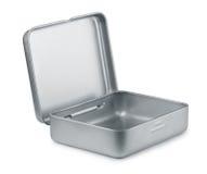 Boîte vide en métal Photo stock