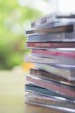 Boîtes à bijoux cd sur le Tableau Image libre de droits