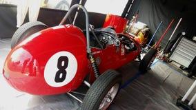 Boîtes à la course historique de voiture de sport Images stock