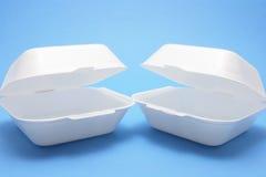 Boîtes à nourriture de polystyrène Image libre de droits