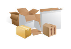 Boîtes Photographie stock