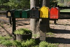 Boîtes aux lettres Images libres de droits