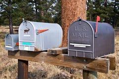 Boîtes aux lettres américaines Photos libres de droits