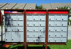 Boîtes aux lettres canadiennes Photo libre de droits