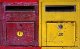 Boîtes aux lettres colorées Images stock