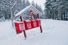 Boîtes aux lettres de Noël Photographie stock libre de droits