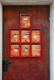 Boîtes aux lettres de rouille Images libres de droits