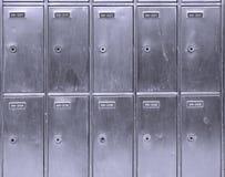 Boîtes aux lettres en acier Photographie stock