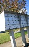 Boîtes aux lettres extérieures d'appartement photographie stock