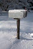 Boîtes aux lettres glaciales Photos stock