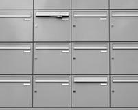Boîtes aux lettres métalliques Image libre de droits