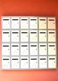 Boîtes aux lettres métalliques Image stock