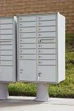 Boîtes aux lettres multiples Images libres de droits