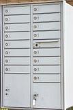 Boîtes aux lettres résidentielles neuves Photo stock