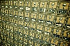 Boîtes aux lettres rayées Photo stock