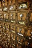 Boîtes aux lettres rayées Photos stock