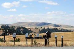 Boîtes aux lettres rurales Photo libre de droits
