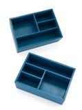 Boîtes bleues de section Images stock