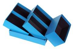 Boîtes bleues douces Photographie stock