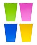 Boîtes colorées vibrantes à festin Image libre de droits