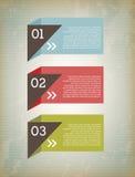 Boîtes d'Infographic Image stock