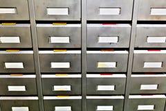 Boîtes de classement en métal pour des pièces de rechange Photos libres de droits
