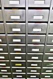 Boîtes de classement en métal pour des pièces de rechange Photo libre de droits