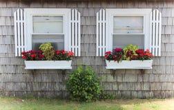 Boîtes de fenêtre photographie stock libre de droits