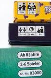 Boîtes de jeux de société Photo stock