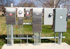 Boîtes de jonction en aluminium pour des véhicules électriques Image libre de droits