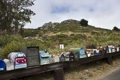 Boîtes de lettre sur la rue Photos libres de droits