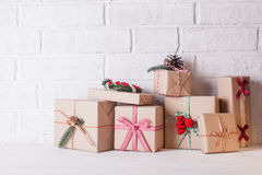 Boîtes de métier de Noël Photo stock