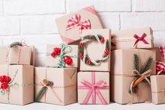 Boîtes de métier de Noël Images libres de droits