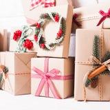 Boîtes de métier de Noël Photographie stock