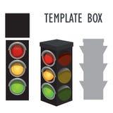 Boîtes de modèle faites de papier Illustration de Vecteur