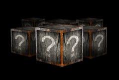 Boîtes de mystère Photos stock