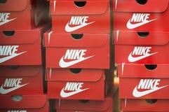 Boîtes de Nike Photographie stock libre de droits