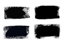 Boîtes de peinture de course de brosse réglées Photo stock