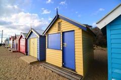 Boîtes de plage de Brighton images libres de droits