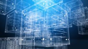 Boîtes de programme de Digital dans le cyberespace illustration stock