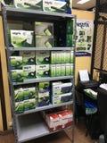 Boîtes de vert de marchandises de technologie curated Images stock
