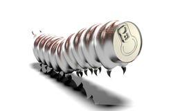 Boîtes en aluminium sur un fond blanc illustration stock