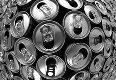 boîtes en aluminium vides image stock